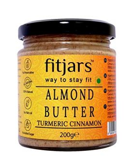 FITJARS All Natural Turmeric Cinnamon Almond Butter( Stone Ground Vegan Butters )-200 gm
