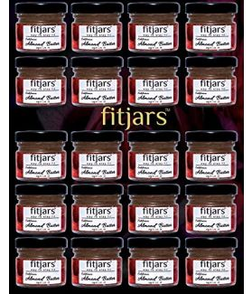 FITJARS Signature California Almond Butter 30 gm X 24 Travel Pack (Badam) Almond Butters ,Immunity Booster,Healthy Diet