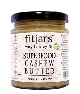 FITJARS All Natural Super Food Cashew Butter(Kaju), Stone Ground Vegan Diet Butters-200 gm