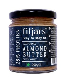 FITJARS All Natural High Protein - Almond butter(Badam), 200 gm