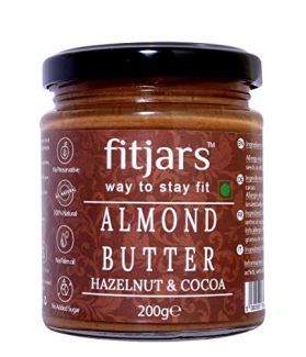 FITJARS Almond Butter with Hazelnut & Cocoa , 200 gm All Natural gourmet food