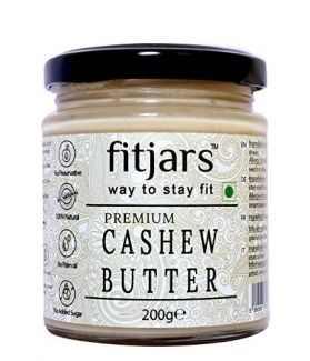 FITJARS Stone Ground Keto Vegan Butters Signature Cashew Butter(Kaju) Unsalted, 200 gm
