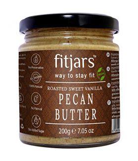FITJARS Cinnamon Vanilla Pecan Butter, 200 gm gourmet food