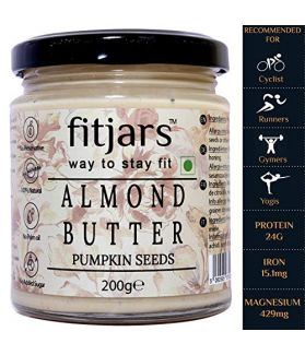 FITJARS All Natural Almond Butter With Pumpkin Seeds, 200 ge gourmet food