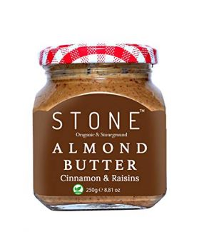 All Natural Stone-Ground Organic Almond Butter with Cinnamon and Raisins, 250Gm