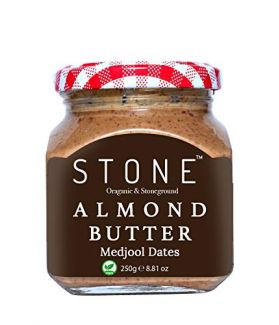 All Natural Stone-Ground Organic Almond Butter with Medjool Dates, 250Gm