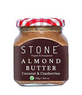 All Natural Stone-Ground Organic Almond Butter with Coconut and Cranberries, 250Gm