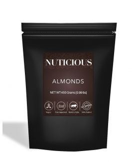 All Natural Premium Almonds (Badam) - 450Gm