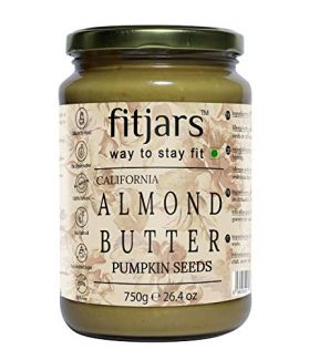FITJARS Stone Ground Keto Vegan All Natural Gourmet Almond Pumpkin Seeds Butter , 750 GE