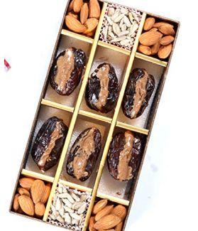 All Natural Medjool Dates Pitted & Stuffed with Super Mix Nut Butter (Almonds, Pecans, Walnuts & Medjool Dates)