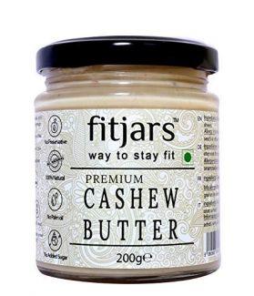 FITJARS Stone Crushed Premium Cashew Butter / Kaju , 200 gm All Natural gourmet food