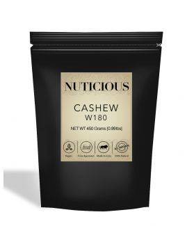 All Natural W180 Cashew Nuts (Kaju) - 450Gm