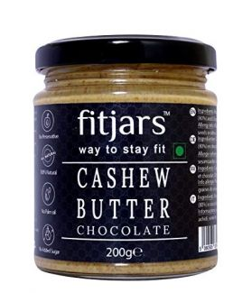 FITJARS All Natural Cashew Chocolate Butter(Kaju)- l Stone Ground Vegan Diet Butters -200 gm