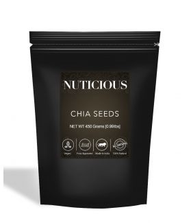 All Natural Healthy Organic Chia Seeds (Omega-3 Food) - 450Gm