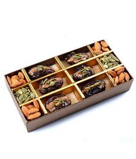 All Natural Medjool Dates Pitted & Stuffed with Almonds & Pumpkin Seeds Butter