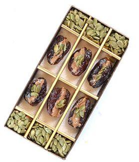 All Natural Medjool Dates Pitted & Stuffed with Pumpkin Seeds Butter