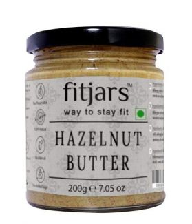 FITJARS All Natural Hazelnut Butter(Gluten Free), 200 gm gourmet food