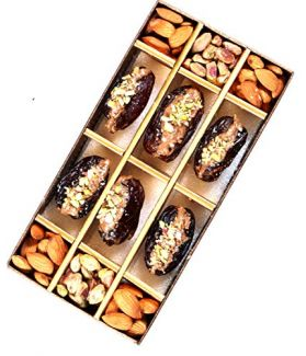 All Natural Medjool Dates Pitted & Stuffed with Pistachios & California Almonds