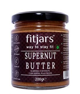 FITJARS Supernut Butter (Coconut/Almond/Chia/Flax), All Natural Stone Ground keto Diet Vegan Butters-200ge