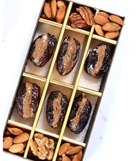 All Natural Medjool Dates Pitted & Stuffed with Supernut Butter (Coconut Flakes, Almonds, Chia Seeds & Flax Seeds)