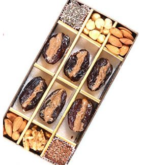All Natural Medjool Dates Pitted & Stuffed with Superfood Butter(Almonds, Walnuts, Hazelnuts,  Flax Seeds & Chia Seeds)